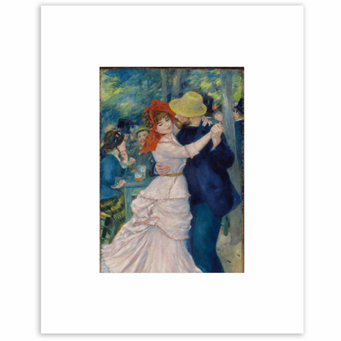 <I>Dance at Bougival</I><br>8 x 10 Matted Print