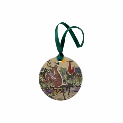 <i>Deer on Chocorua</i> Holiday Ornament