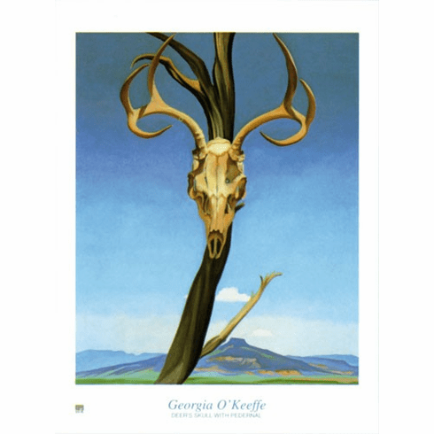 <i>Deer's Skull with Pedernal</i> Poster