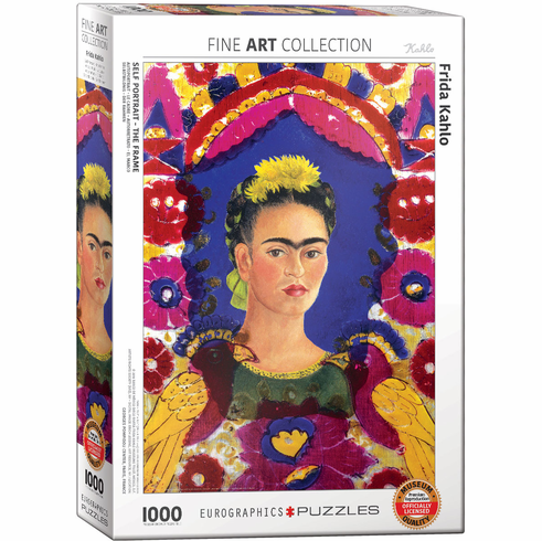Frida Kahlo 1000 Piece Puzzle - <i>Self Portrait, The Frame</i>