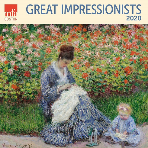 Great Impressionists MFA Boston Wall Calendar 2020 Monthly January December 12'' x 12""