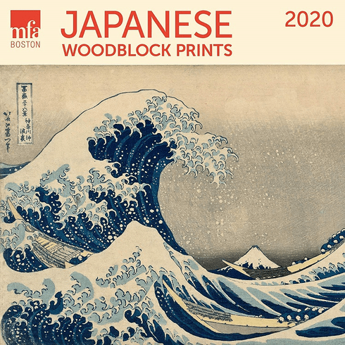Japanese Woodblocks MFA Boston Wall Calendar 2020 Monthly January-December 12'' x 12""