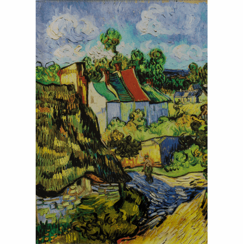 <Houses at Auvers</i> Acrylic Magnet