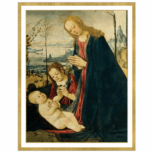 Madonna With Child and Saint John Holiday Cards