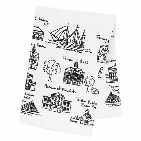 <i>Memories of Boston</i> Tea Towel