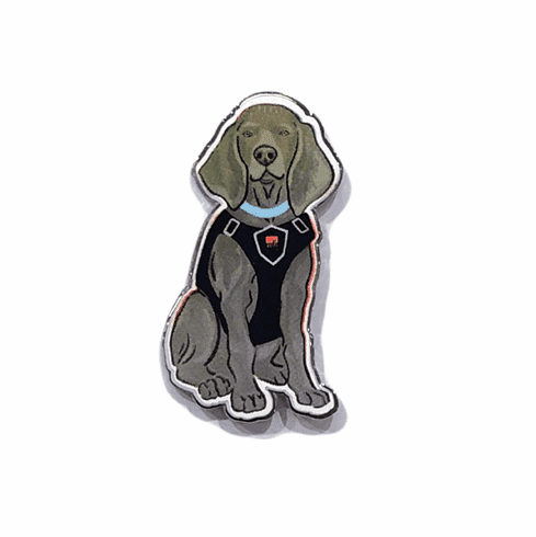 Riley the Museum Dog Enamel Pin