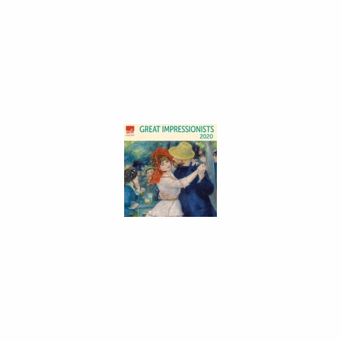 "MFA Great Impressionists Van Gogh Monet Degas Renoir Mini Wall 2020 Monthly January-December 7"" x 7"""