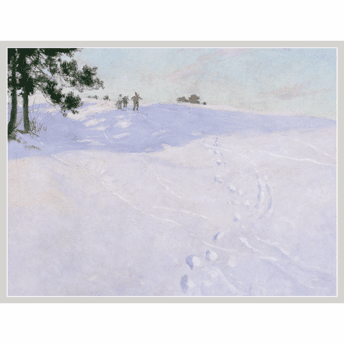 MFA <i>Skiers At The Top Of A Hill</i> Holiday Cards