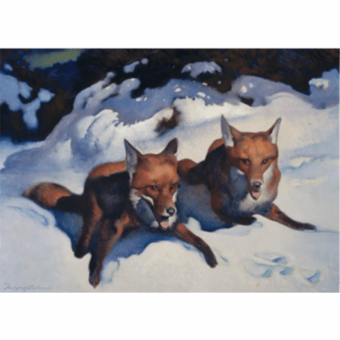 MFA <i>Two Foxes</i> Holiday Cards
