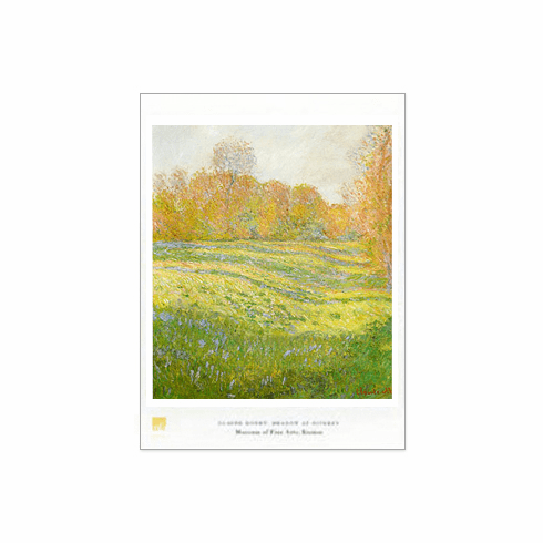 Monet  <i>Meadow at Giverny</i>  Poster