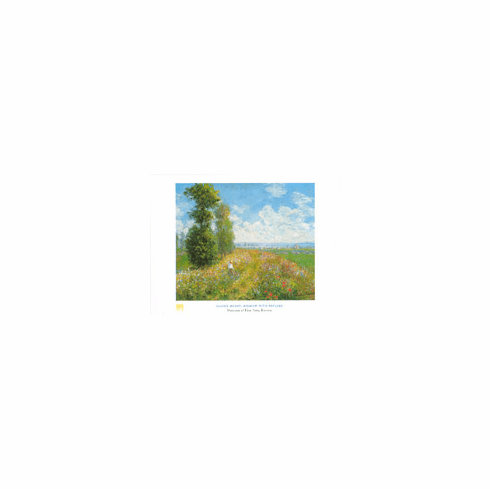 Monet <i>Meadow with Poplars</i> Poster