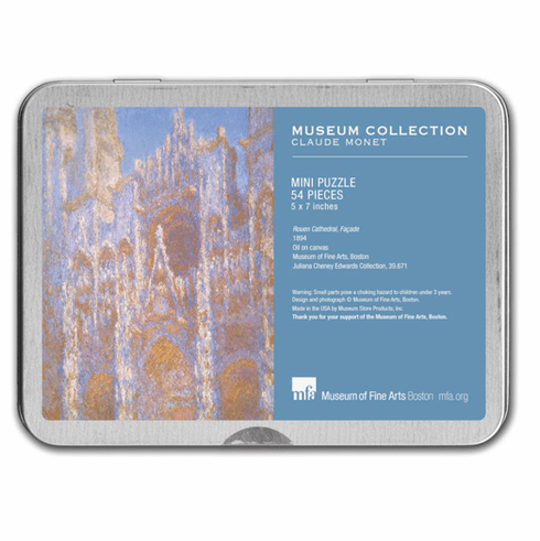 Monet Rouen Cathedral Puzzle Tin