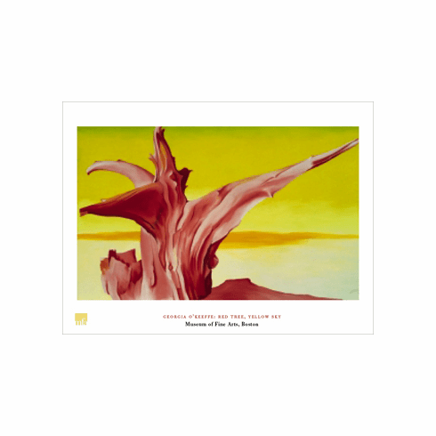 O'Keeffe <i>Red Tree, Yellow Sky</i> Poster