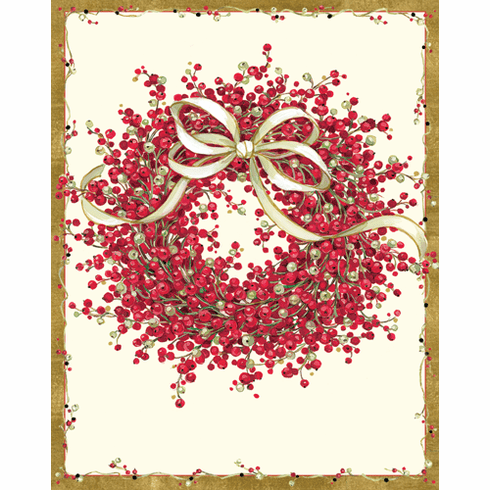 Pepperberry Wreath Holiday Cards