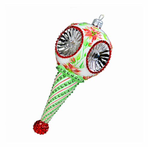 Poinsettia Towle Reflector Ornament