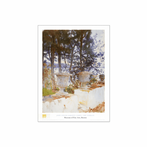 Sargent  <i>Corfu:  The Terrace</i>  Poster