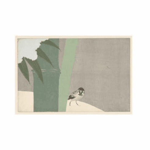 <i>Sparrow Beside Bamboo in Snow</i> Holiday Cards