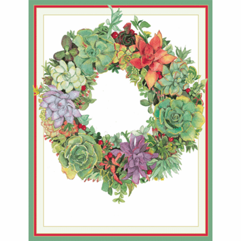 Succulent Wreath Holiday Cards