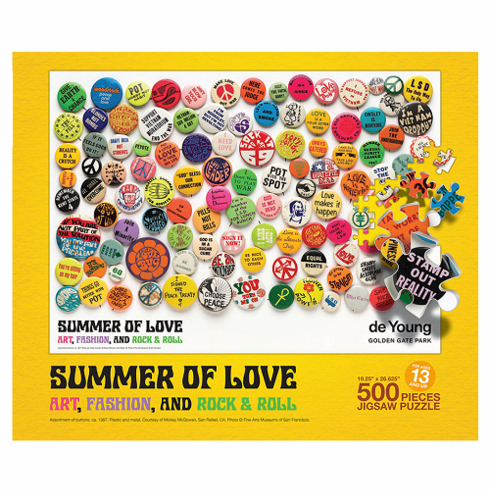 Summer of Love Buttons 500-Piece Puzzle