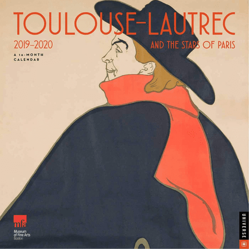 Toulouse-Lautrec and the Stars of Paris 2019-2020 Calendar
