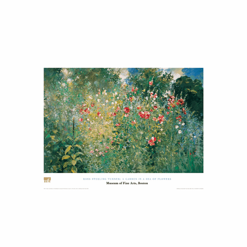 Turner  <i>A Garden is a Sea of Flowers</i>  Poster