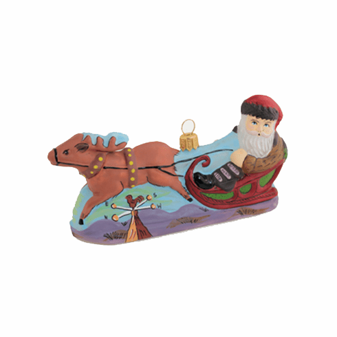 Vaillancourt St. Nicholas on Sled Ornament