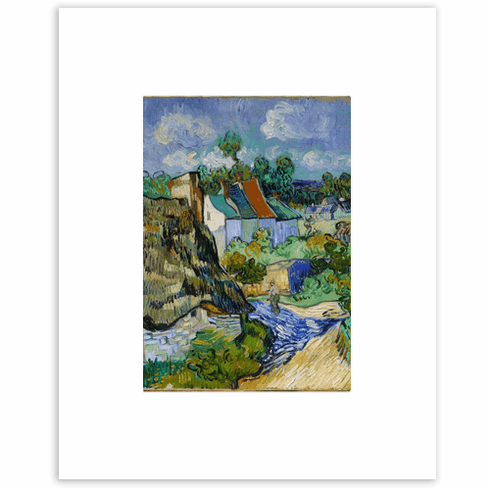 Van Gogh <i>Houses at Auvers</i><br>8 x 10 Matted Print