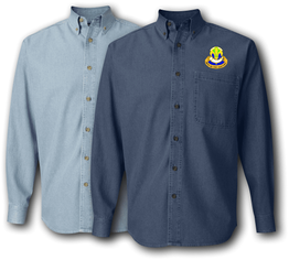 100th Training Division Unit Crest Denim Shirt