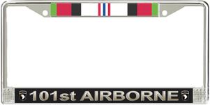 101st Airborne Division Afghanistan Veteran Service Ribbon License Plate Frame