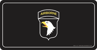U.S. Army 101st Airborne Division License Plate