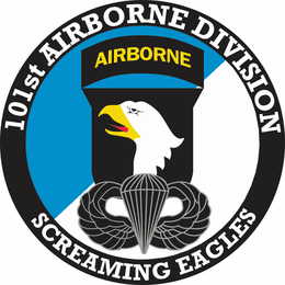 101st Airborne Division with Jump Wings Decal
