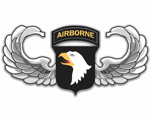 101st Airborne Jump Wings Sticker Decal