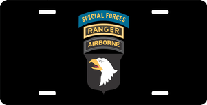 101st Airborne Ranger Special Forces License Plate