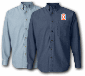 106th Signal Brigade Denim Shirt