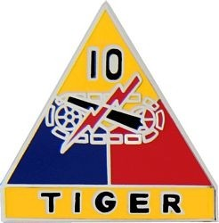 10TH ARMORED DIVISION LAPEL PIN