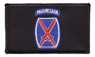 10th Infantry Hook and Loop Black Patch