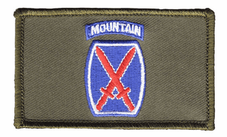10th Infantry Hook and Loop OD Green Patch