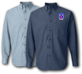 10th Infantry Mountain Division Denim Shirt