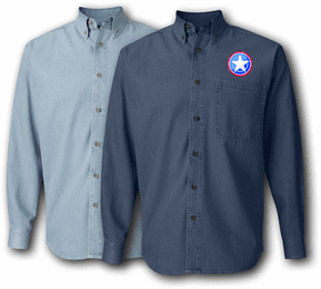 12th Support Brigade Denim Shirt