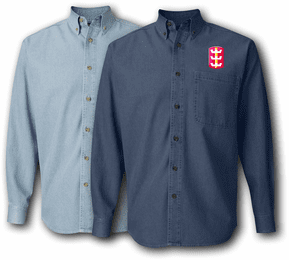 130th Engineer Brigade Denim Shirt