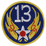 """13th Air Force 3"""" Patch"""