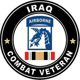 18th Airborne Corps Iraq Combat Veteran with Ribbon Operation Iraqi Freedom OIF Decal Sticker