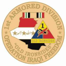 """1st Armored Division 1 1/8"""" Operation Iraqi Freedom Lapel Pin"""