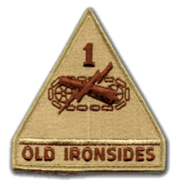 "1st Armored Division Desert 4"" Military Patch"