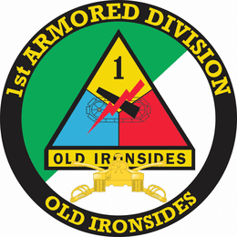 1st Armored Division with Armor Insignia Decal