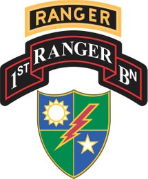 1st Battalion, 75th Ranger Regiment With Ranger Tab Decal