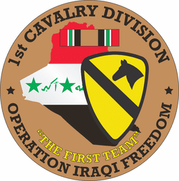 1st Cavalry Division OIF Decal