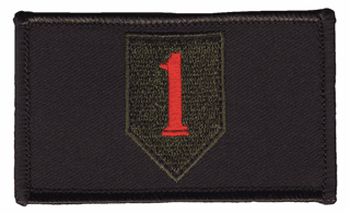1st Infantry Hook and Loop Black Patch