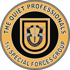 1st Special Forces Quiet Professionals Decal Sticker