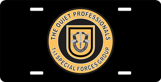 1st Special Forces Quiet Professionals License Plate